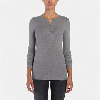 ATM Anthony Thomas Melillo Long-Sleeve Rib Henley