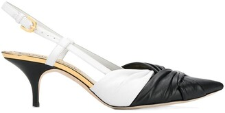 Emilio Pucci two-tone slingback pumps