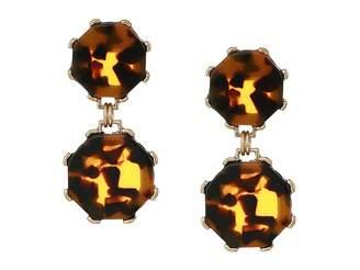 Shashi Cassie Tortoise Earrings