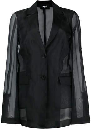 Yang Li sheer sleeves blazer