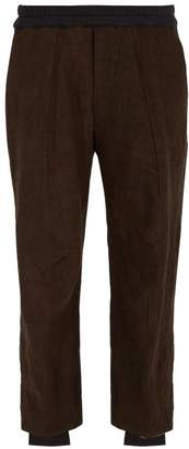 Blend of America By Walid - Victor Two Tone Cotton Trousers - Mens - Brown