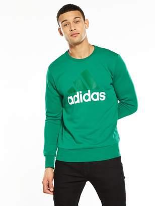 adidas Essentials Big Logo Crew Neck Sweat