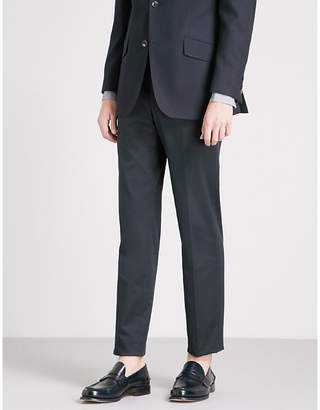 Richard James Regular-fit straight wool-twill trousers