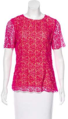 Oscar de la Renta Embroidered Short Sleeve Top w/ Tags