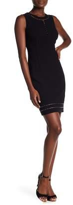 Elie Tahari Embellished Sleeveless Dress