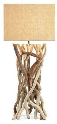 Imax Worldwide Home Table Lamp in Rectangular Jute Shade