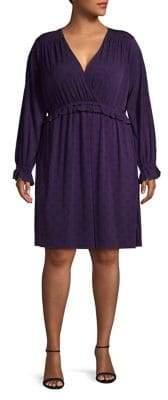 MICHAEL Michael Kors Long-Sleeve V-Neck Dress