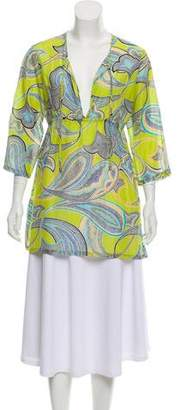 Trina Turk Printed Long Sleeve Tunic