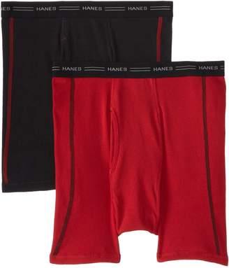 Hanes Men's 2 Pack Cool DRI No Ride Up Boxer Briefs