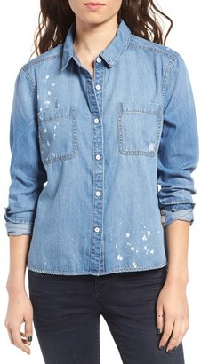 Women's Bp. Splatter Chambray Shirt $55 thestylecure.com