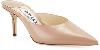 Jimmy Choo Rav Leather Slide Mules