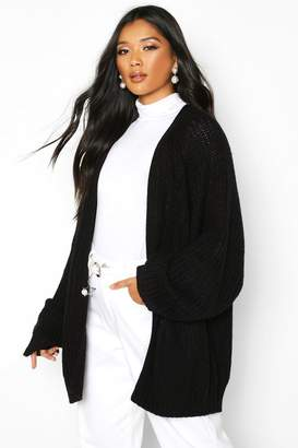 boohoo Chunky Fisherman Knit Raglan Sleeve Cardigan