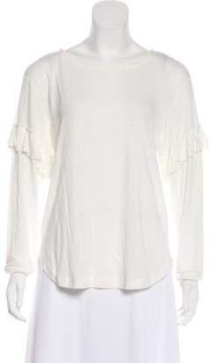 Rebecca Minkoff Ruffle-Accented Long-Sleeve Top