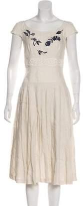 Prada Embellished Pleated Dress