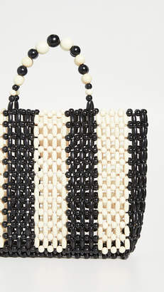 Alice + Olivia Zoey Wooden Beaded Bag