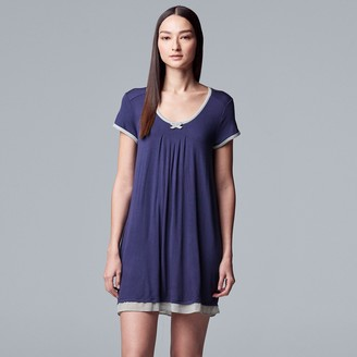 Vera Wang Women's Simply Vera Pajamas: Basic Luxury Sleep Shirt