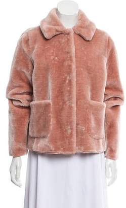 Rebecca Taylor Faux Fur Pointed Collar Jacket