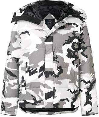 Canada Goose camouflage padded hooded jacket