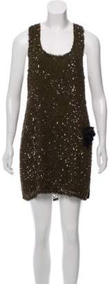 Alice + Olivia Embellished Mini Dress Olive Embellished Mini Dress