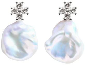 Ora Pearls Zira Keshi Pearl Earrings