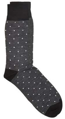 Corgi Spot Socks in Charcoal