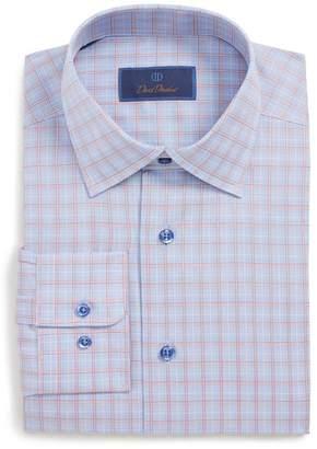 David Donahue Regular Fit Plaid Dress Shirt