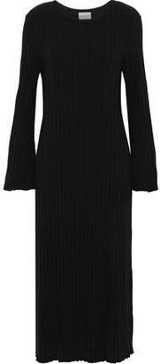 Simon Miller Wells Ribbed Tencel-Blend Midi Dress