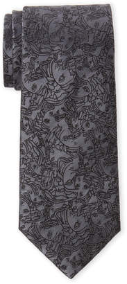 Versace Grey Medusa Silk Tie