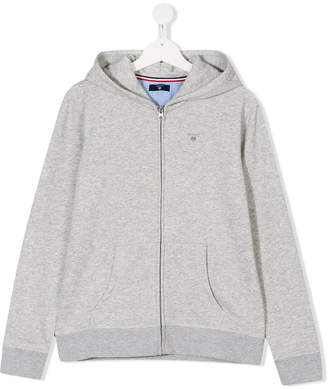 Gant Kids Teen embroidered logo hoodie