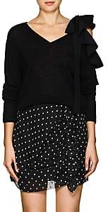 Valentino Women's Wool-Cashmere Tieneck Sweater - Black