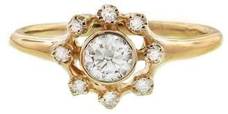 N+A New York Round Diamond Frame Ring