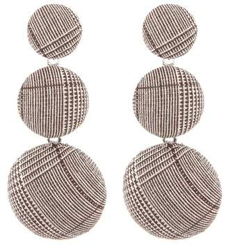 Natasha Accessories Three Tier Button Earrings