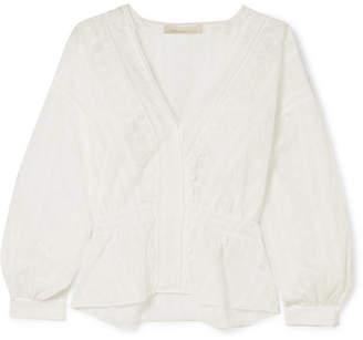 Vanessa Bruno - Izest Broderie Anglaise Cotton Top - White
