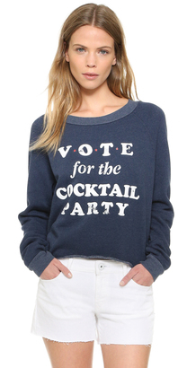 Wildfox Cocktail Party Cropped Sweatshirt $98 thestylecure.com