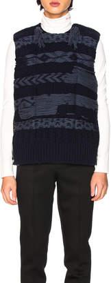 Calvin Klein Knitted Body Warmer in Black & Navy & Ardoise | FWRD