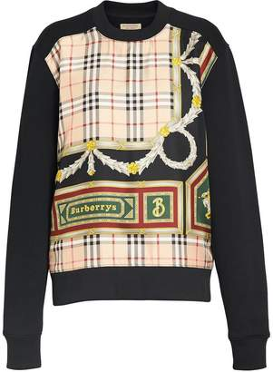 Burberry Archive Scarf Print Panel Sweatshirt
