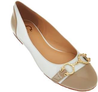 C. Wonder Leather Ballet Flats w/ Hardware - Elizabeth