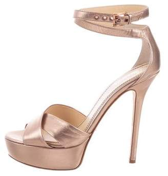 Jerome C. Rousseau Metallic Platform Sandals