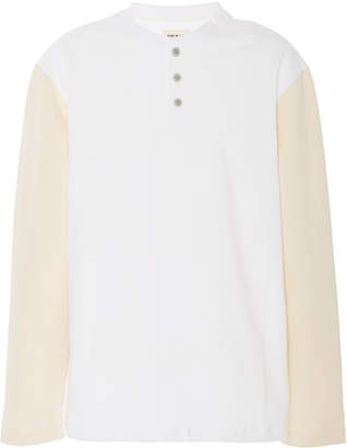 Fear Of God Two-Tone Cotton-Jersey Henley T-Shirt