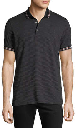 Emporio Armani Men's Patterned Micro Jacquard Polo Shirt