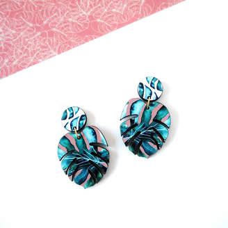 Mica Peet Tropical Monstera Earrings