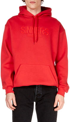 Balenciaga Men's Sinners Embroidered Hoodie