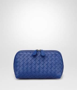 Bottega Veneta Cobalt Intrecciato Nappa Cosmetic Case