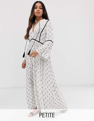 Y.A.S Petite festival monochrome emroidered tunic midi dress