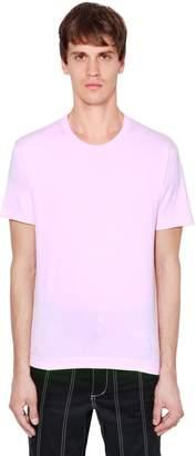 Comme des Garcons Logo Detail Print Cotton Jersey T-Shirt