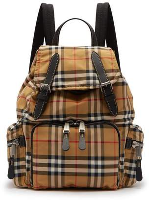 Burberry Vintage Check Backpack - Mens - Tan Multi