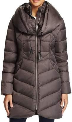 Via Spiga Shawl Collar Puffer Coat
