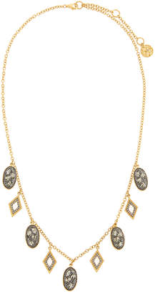 Freida Rothman Rose Dor Fringe Charm Necklace