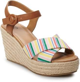 a78e0d01e7 So SO Rosebay Women's Espadrille Wedge Sandals