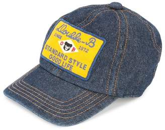 Mikihouse Miki House patch embellished denim cap